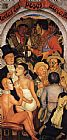Diego Rivera Night of the Rich painting