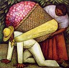 Diego Rivera The Flower Carrier I painting