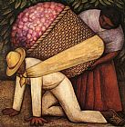 Diego Rivera The Flower Carrier painting