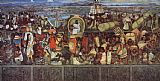 Diego Rivera The Great City of Tenochtitlan painting