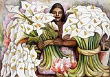Diego Rivera Vendedora de Alcatraces (Salesman of Gannets) painting