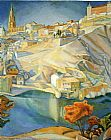 Diego Rivera View of Toledo painting