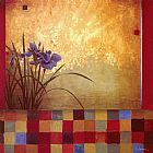 Don Li-Leger Iris Quilt painting