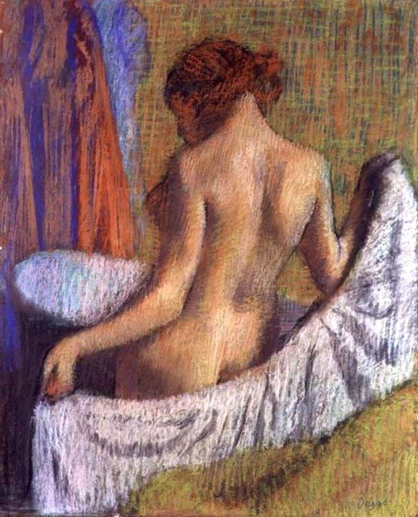 Edgar Degas After the Bath, woman with a Towel