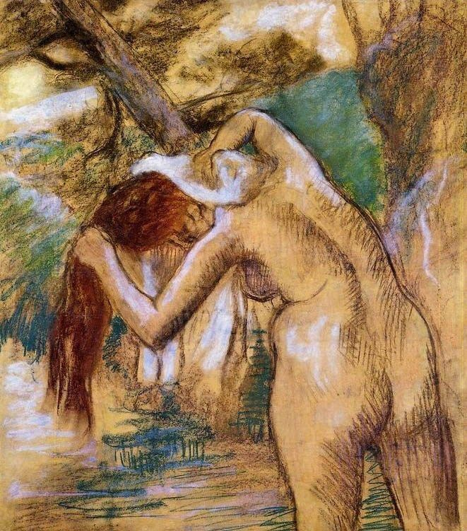 Edgar Degas Bather by the Water