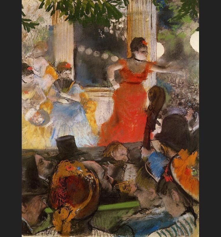 Edgar Degas Cafe Concert - At Les Ambassadeurs