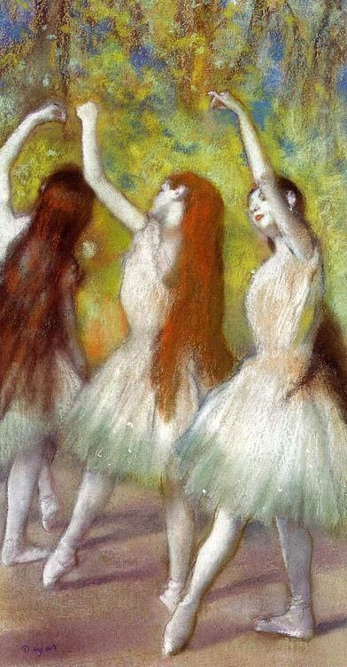 Edgar Degas Dancers in Green