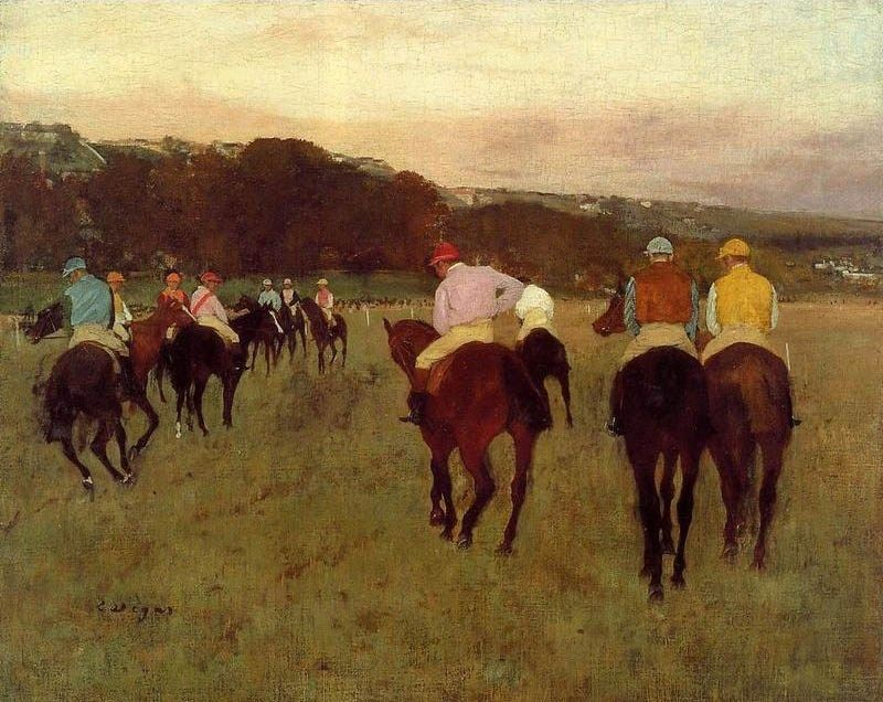 Edgar Degas Racehorses at Longchamp