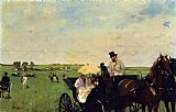 Edgar Degas A Carriage at the Races painting