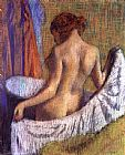 Edgar Degas After the Bath, woman with a Towel painting