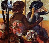 Edgar Degas At the Milliners painting