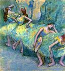 Edgar Degas Ballet Dancers in the Wings painting
