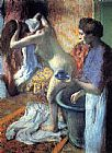 Edgar Degas Breakfast after the Bath II painting