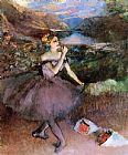 Edgar Degas Dancer with Bouquets painting