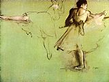 Edgar Degas Dancers at the Barre painting