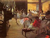 Edgar Degas The Dance Class painting