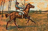 Horse Racing paintings - The Jockey by Edgar Degas