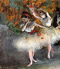 Edgar Degas Two Dancers Entering the Stage painting