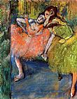 Edgar Degas Two Dancers in the Foyer painting
