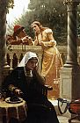 Edmund Blair Leighton A Stolen Interview painting