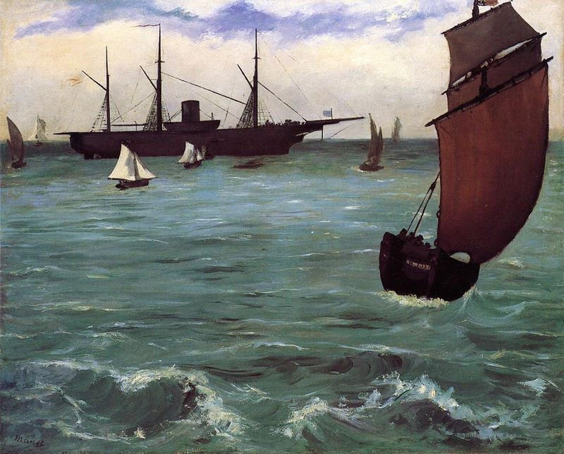 Edouard Manet Fishing Boat Coming in Before the Wind