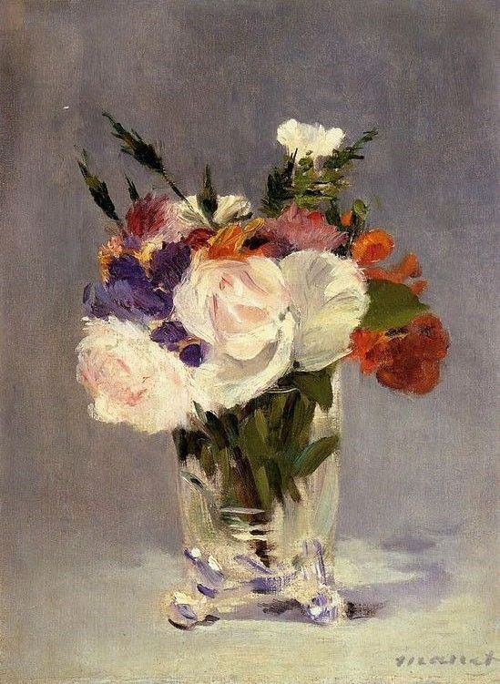 Edouard Manet Flowers In A Crystal Vase I