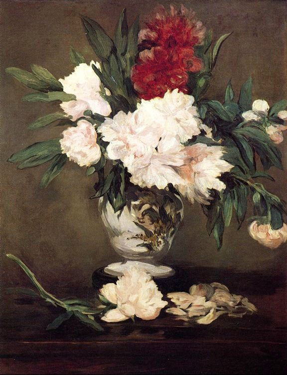 Edouard Manet Peonies In A Vase