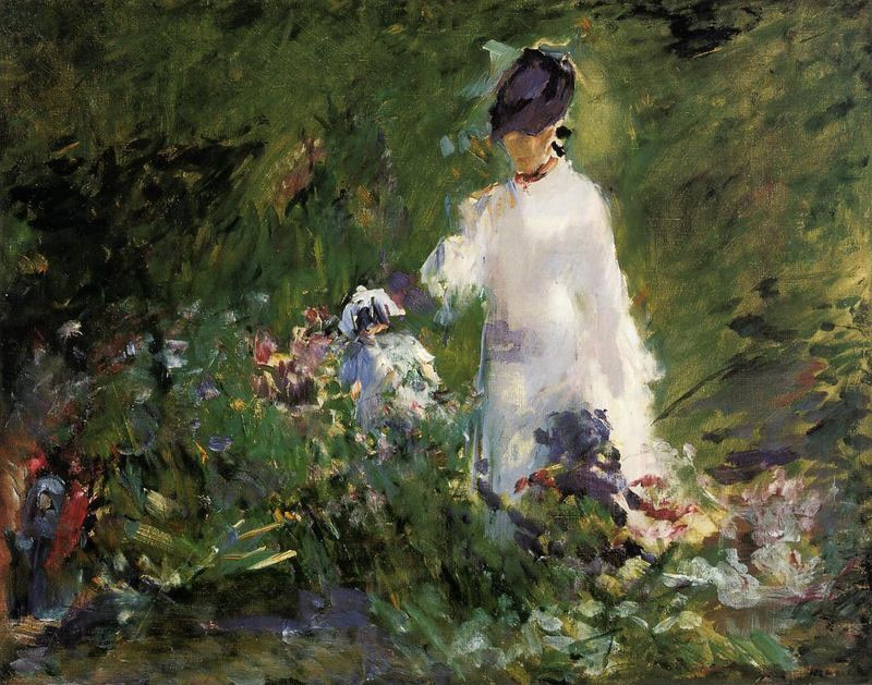 Edouard Manet Young Woman among the Flowers