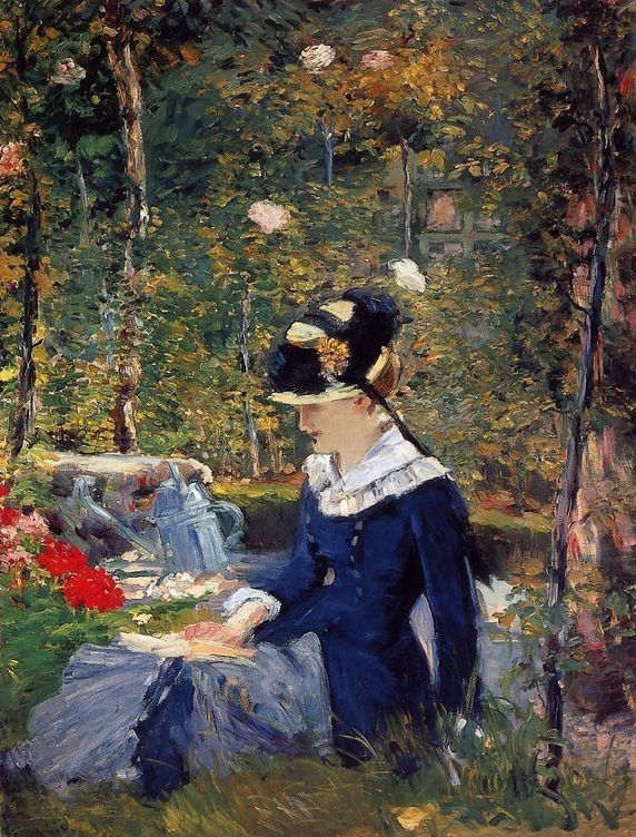 Edouard Manet Young Woman in the Garden