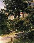 Edouard Manet A Path in the Garden at Rueil painting