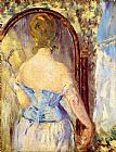 Edouard Manet Before the Mirror painting