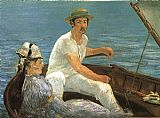 Edouard Manet Boating painting