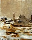 Edouard Manet Effect of Snow at Petit-Montrouge painting