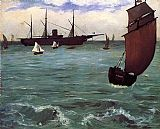 Edouard Manet Fishing Boat Coming in Before the Wind painting
