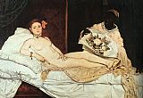 edouard manet Paintings - Olympia