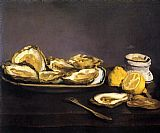 edouard manet Paintings - Oysters