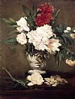 Edouard Manet Peonies In A Vase painting