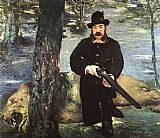 Edouard Manet Pertuiset, Lion Hunter painting