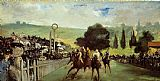 Edouard Manet Racetrack Near Paris painting