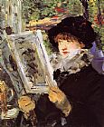 Edouard Manet Reading I painting