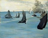 Edouard Manet Steamboat painting