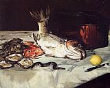 Edouard Manet Still Life with Fish painting