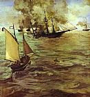 Edouard Manet The Battle Of The Kearsarge And The Alabama painting
