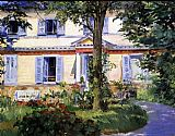 Edouard Manet The House at Rueil 2 painting