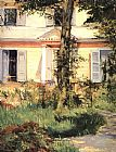 Edouard Manet The House at Rueil painting