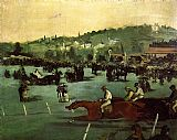 Edouard Manet The Races in the Bois de Boulogne painting