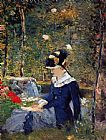 Edouard Manet Young Woman in the Garden painting
