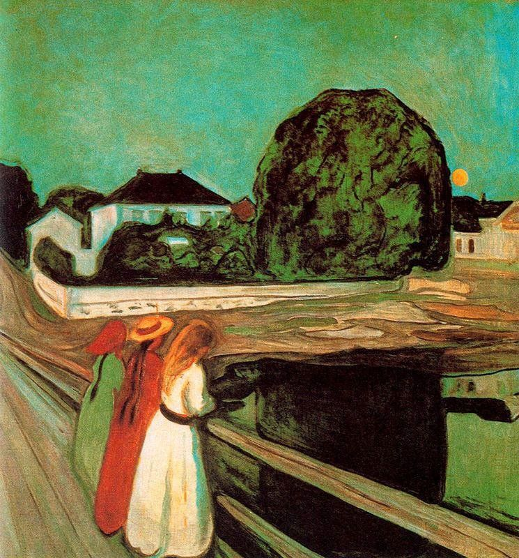 Edvard Munch At the bridge