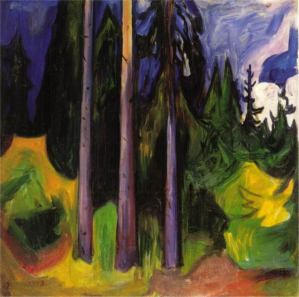 Edvard Munch Forest