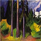 Edvard Munch Forest painting